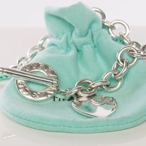 Tiffany & Co Silver Heart Tag Toggle Bracelet